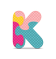 letter K written with alphabet puzzle vector image