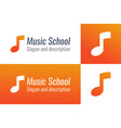 logo for music school with musical note vector image vector image