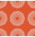 Mandala Hand drawn seamless ornament in orange vector image vector image