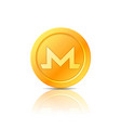 monero coin symbol icon sign emblem vector image vector image