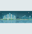 night city landscape and suburban landscape vector image vector image