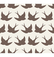 old school seamless pattern with birds vector image