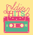 Oldie Hits Audio Tape Icon vector image vector image