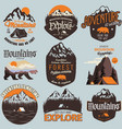 outdoor expedition typography adventure t-shirt vector image vector image