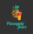pineapple juice banner or menu vector image vector image