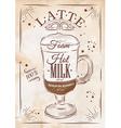 Poster latte kraft vector image vector image