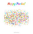 purim flyer carnival paper confetti background vector image vector image