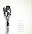 retro vintage microphone 4 vector image vector image