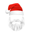 santa claus christmas mask vector image