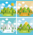 seasonal weather set landscapes vector image vector image