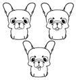Set of french bulldog puppies Black and white vector image vector image