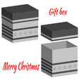 set of realistic boxes with lid for gifts vector image vector image