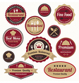 Set of vintage retro restaurant badges and labels vector image vector image