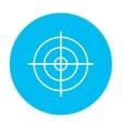 Shooting target line icon vector image