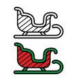 sledge icon on white background vector image