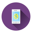 Smartphone with dollar sign icon vector image vector image