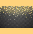 snowflake gold glitter particles isolate on png