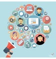 social networking mock up vector image vector image