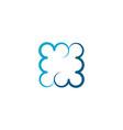 square blue cloud icon logo symbol vector image vector image