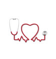 stethoscope heart pulse tool medical diagnosis vector image