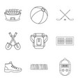 stopwatch icons set outline style vector image vector image