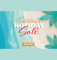 summer holiday sale banner background vector image vector image