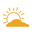 summer sun with cloud scene vector image vector image