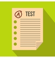 Test paper icon flat style vector image