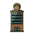 tower building isolated vector image vector image