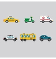 Transportation Icon Series in Flat Colors Style vector image vector image