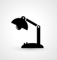Vintage lamp icon vector image