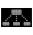 white halftone hierarchy scheme icon vector image vector image
