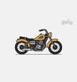 yellow vintage motorcycle vector image