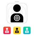 Human target icon vector image