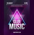 Party Flyer Club music flyer Dj lineup design vector image