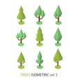 Isometric tree set 3 vector image