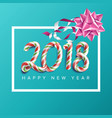 2018 new year poster realistic bow vector image vector image