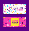 abstract colorful geometric shape banner set vector image vector image