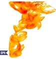 abstract orange cloud Ink swirling in vector image