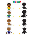 african characters for the childrens book vector image vector image