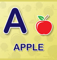apple alphabet background vector image vector image