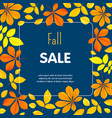 autumn fall sale concept background flat style vector image