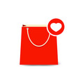 bag buy favorite love paper shopping icon vector image vector image