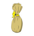 bag with a bow drawing by vector image vector image