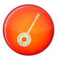 Banjo icon flat style vector image vector image