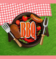 BBQ Grill elements vector image vector image