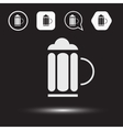 Beer beverage icons Beer logo vector image vector image