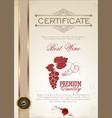 best wine certificate template vector image vector image