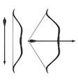 bow and arrow icon stretched bow vector image vector image