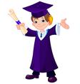 Boy Graduates vector image vector image